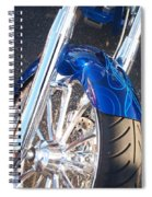 Harley Close-up Blue Flame  Spiral Notebook