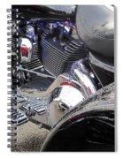 Harley Close-up Blue Lights Spiral Notebook
