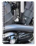 Harley Close-up Engine Close-up 1 Spiral Notebook