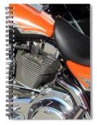 Harley Close-up Orange 1 Spiral Notebook