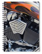 Harley Close-up Orange Flame Spiral Notebook