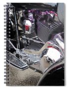 Harley Close-up Purple Lights Spiral Notebook