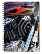 Harley Close-up Red Flame 1 Spiral Notebook