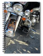 Harley Close-up W Shadow 1 Spiral Notebook