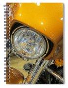 Harley Close-up Yellow 2 Spiral Notebook