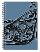 Harley-davidson And Words Spiral Notebook