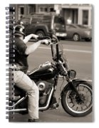 Harley Davidson Black And White Spiral Notebook