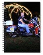 Harley Davidson Light Painting Spiral Notebook