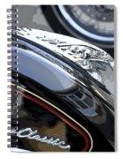 Harley Davidson Motorcycle American Eagle Fender Ornament Usa Spiral Notebook