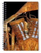 Antique Harley Davidson Motorcycle Spiral Notebook
