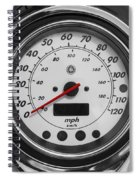 Harley Davidson Motorcycle Speedometer Harley Bike Bw  Spiral Notebook