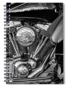 Harley Davidson Ultra Classic Monochrome Spiral Notebook