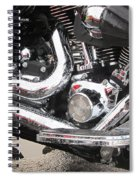 Harley Engine Close-up Rain 2 Spiral Notebook