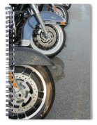 Harley Line Up Rain Spiral Notebook