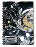 Harley Live To Ride Spiral Notebook