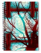 Harmonious Colors - Red White Turquoise Spiral Notebook