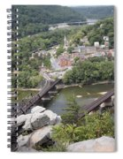 Harpers Ferry Viewed From Maryland Heights Spiral Notebook