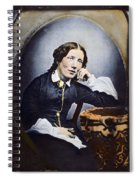 Harriet Beecher Stowe (1811-1896). American Abolitionist And Writer. Oil Over A Daguerrotype, C1852 Spiral Notebook