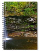 Harrison Wright Falls And Pool Spiral Notebook