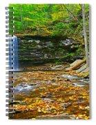 Harrison Wright Falls Panorama Spiral Notebook