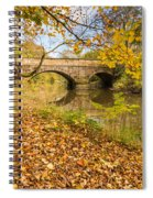Hartford Bridge In Autumn Spiral Notebook