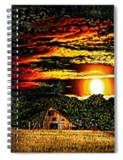 Harvest Moon And Late Barn Spiral Notebook