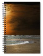Harvest Moon On The Beach Spiral Notebook