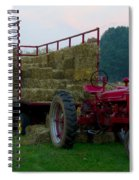 Harvest Time Tractor Spiral Notebook