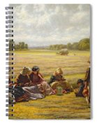 Harvesters Resting In The Sun, Berkshire, 1865 Oil On Canvas Spiral Notebook