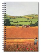 Harvesting In The Cotswolds Spiral Notebook