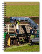 Harvesting Spinach Spiral Notebook