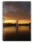 Harveston Lake Sunset Spiral Notebook