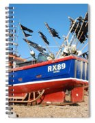 Hastings Fishing Boat Spiral Notebook