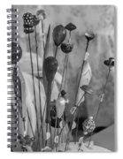 Hat Pins Black And White Spiral Notebook