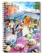 Hat Shopping At Turre Market Spiral Notebook