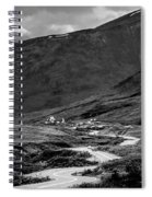 Hatcher's Pass In Black And White Spiral Notebook