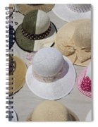 Hats For Sale Next To Marina, Lerici Spiral Notebook
