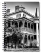 Haunted Mansion New Orleans Disneyland Bw Spiral Notebook