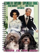 Havanese Art - Father Of The Bride Movie Poster Spiral Notebook