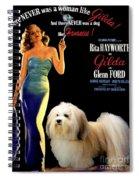Havanese Art - Gilda Movie Poster Spiral Notebook