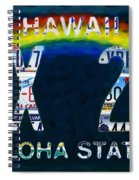 Hawaii License Plate Spiral Notebook