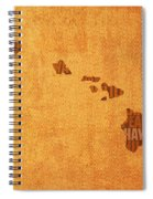 Hawaii Word Art State Map On Canvas Spiral Notebook