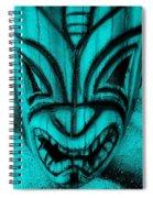 Hawaiian Aquamarine Mask Spiral Notebook