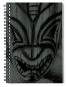 Hawaiian Charcoal Mask Spiral Notebook