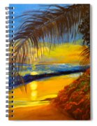 Hawaiian Coastal Sunset Spiral Notebook