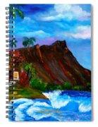 Hawaiian Homestead At Diamond Head Spiral Notebook