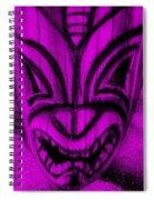 Hawaiian Purple Mask Spiral Notebook