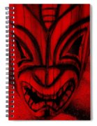 Hawaiian Red Mask Spiral Notebook