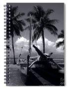 Hawaiian Sailing Canoe Maui Hawaii Spiral Notebook