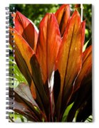Hawaiian Ti Plant Spiral Notebook